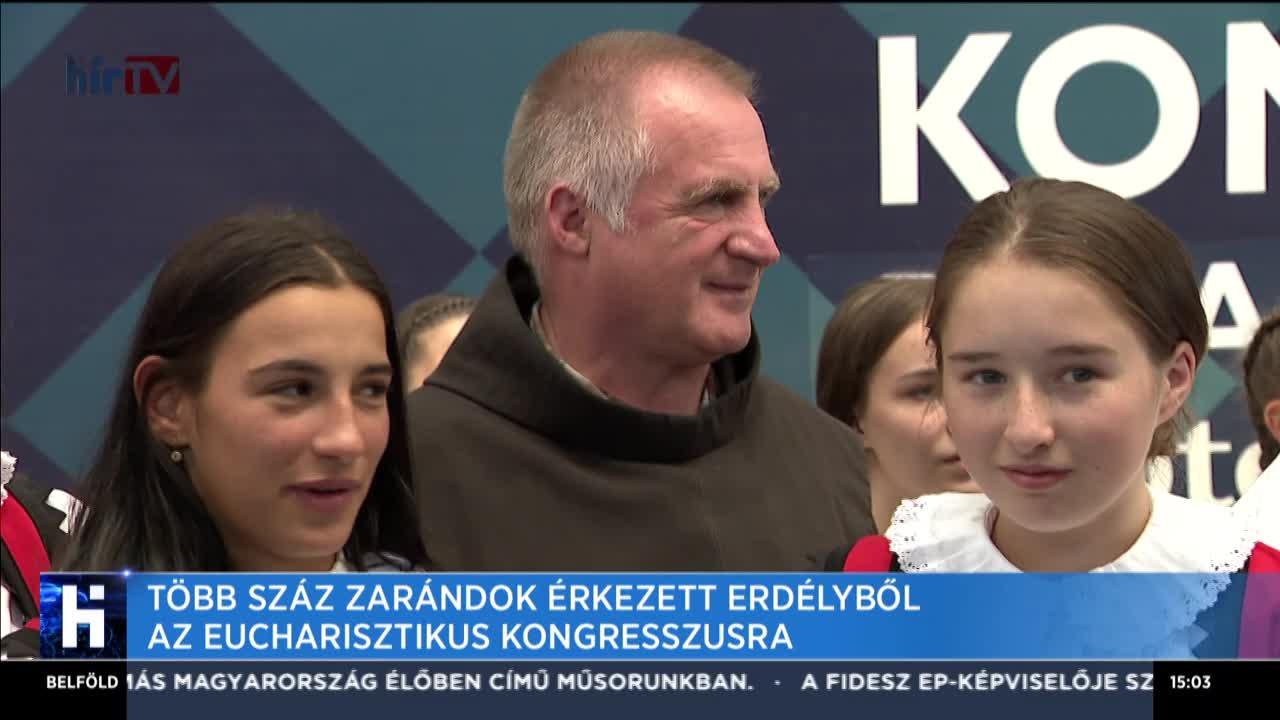 Több száz zarándok érkezett Erdélyből az Eucharisztikus Kongresszusra