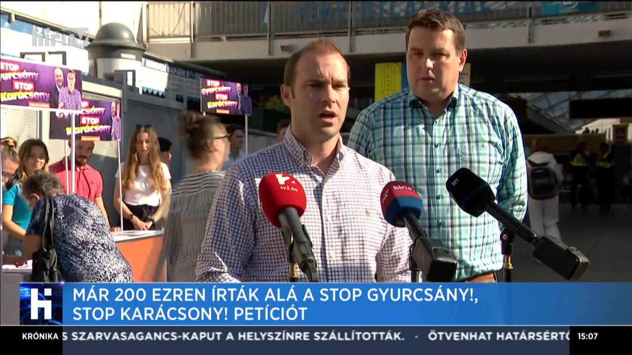 Már 200 ezren írtál alá a Stop Gyurcsány! Stop Karácsony! petíciót