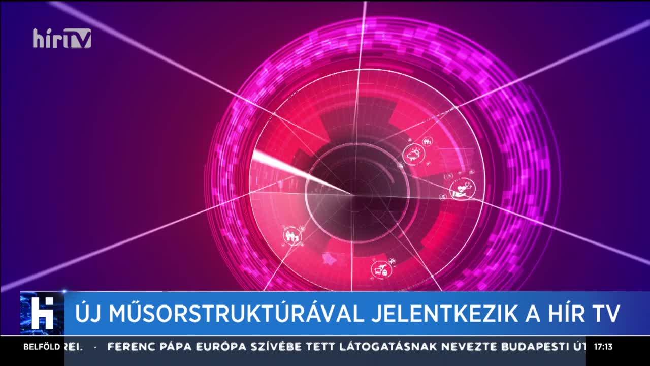 Új műsorstruktúrával jelentkezik a Hír TV